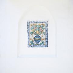 mozaika Hiszpania błękitny ceramika biały wakacje wzór