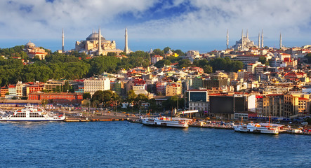 Istanbul from Galata tower, Turkey