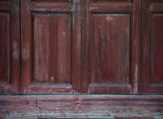 Old style wooden door
