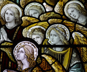 Fototapete - Stained glass angels