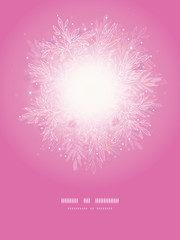 Vector pink branches sunburst vertical template background with