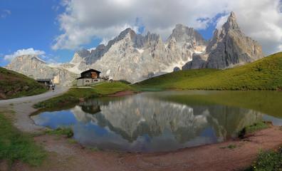 Italy beauty, Dolomity, chalet Segantini under Pala peak