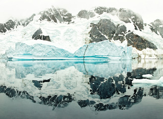 Huge iceberg in De Gerlache Strait, Antarctica