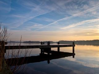 Papiers peints Jetee Pier at dutch lake