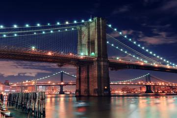 Wall Mural - Urban bridge night scene