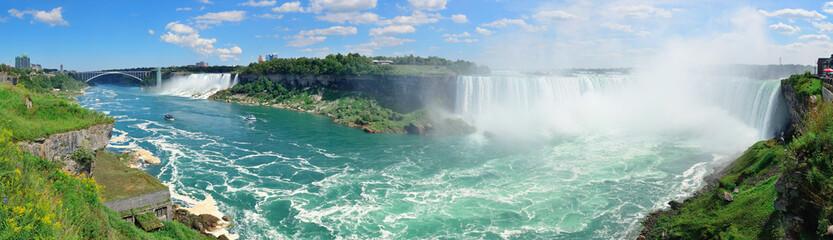 Wall Murals Canada Niagara Falls aerial view