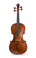 Classical violin - isolated on white background