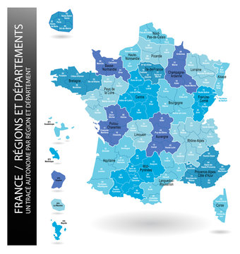 France - Régions et Départements