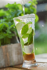 Fresh drink with mint