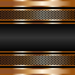 Fototapeta złota siatka na czarnym tle obraz