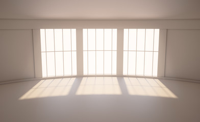 Room with a large window