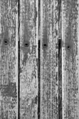Background Texture - pattern of wood slats, peeling paint, rivet