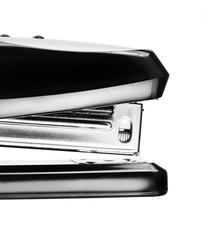 Black stapler isolated on white