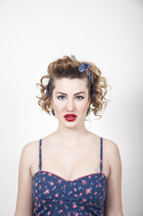 portrait of pin-up girl