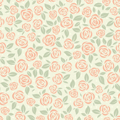 Retro pattern with roses
