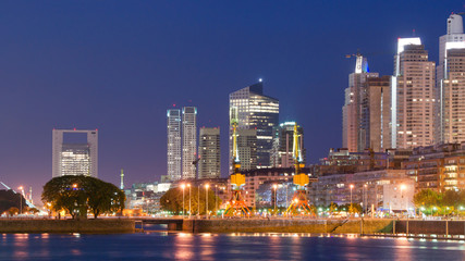 Wall Mural - Puerto Madero at Night