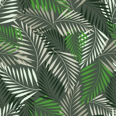 Abstract fern leaf seamless pattern