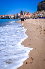 coast in Cefalu (Sicily, Italy)