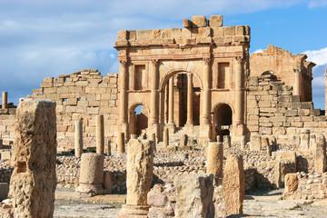 Foto auf Gartenposter Tunesien Roman ruins of Sufetula near Sbeitla, Tunisia