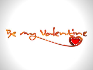 Valentines Day background with text Be My Valentine with glossy