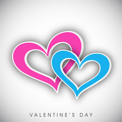 Happy Valentine's Day greeting card, gift card or greeting card