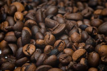 closeup von kaffeebohnen