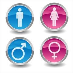 Obraz Woman & Man Icons - fototapety do salonu