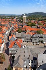 Blick auf Goslar mit Marktplatz, Deutschland