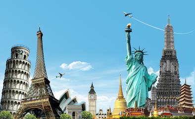 Travel The World, concept Fototapete