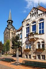 Rathaus und Stadtkirche Wunstorf, Deutschland