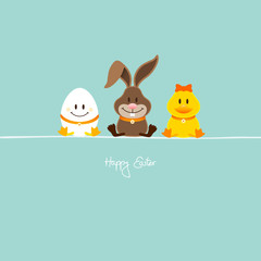 Egg, Bunny & Duck Retro