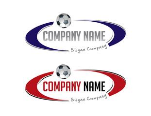 Oval soccer logo