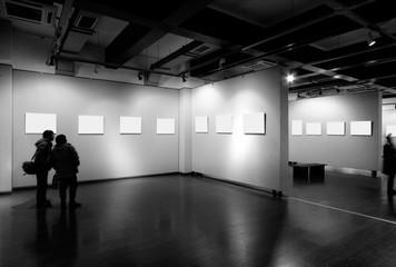 empty frame in art museum