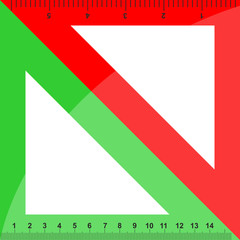 Green and red triangles