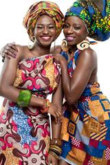 Beautiful African fashion models.