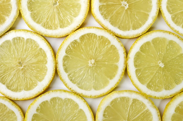 Food background - Sliced mugs lemon