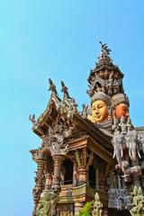 Sanctuary of Truth at Chonburi in Thailand