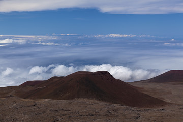 volcanic crater at mauna Kea summit