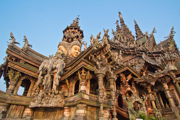 sanctuary of truth in Chonburi thailan