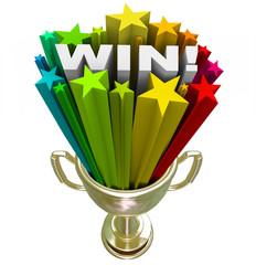 Win Word in Trophy - Burst of Stars Fireworks