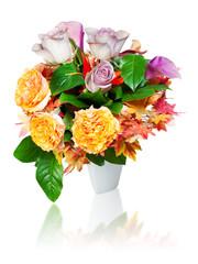 colorful autumn flower bouquet arrangement centerpiece in vase i