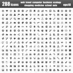 288 icons basic black