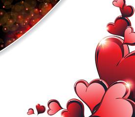 Sparkling Valentine's Day  hearts