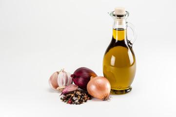 Olivenöl mit Zutaten/Olive oil with cooking ingredients