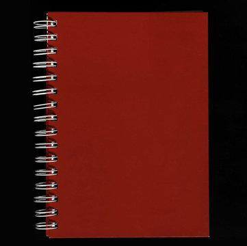Petit carnet rouge à spirale