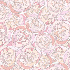 floral seamless background. white flowers wedding pattern
