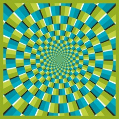Wall Murals Psychedelic Optical illusion ellipse frame 04