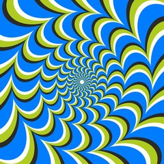Wall Murals Psychedelic Optical illusion ellipse swirl