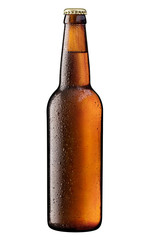 Papiers peints Biere, Cidre brown bottle of beer on white + Clipping Path