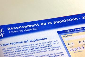 document de recensement de la population française